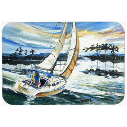 Carolines Treasures JMK1055MP Sailboats On Lake Martin Mouse Pad Hot Pad & Trivet
