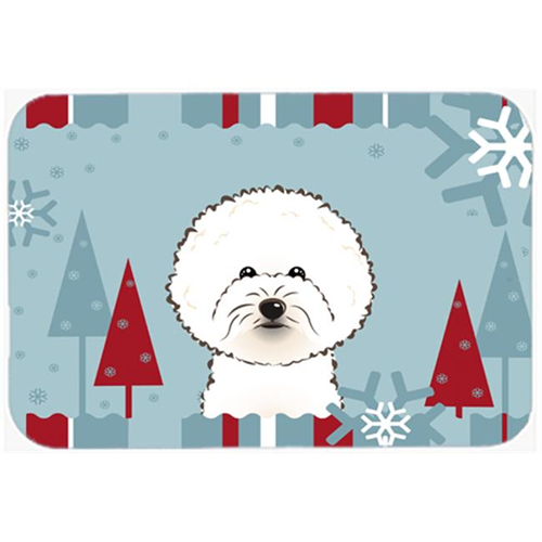 Carolines Treasures BB1713MP Winter Holiday Bichon Frise Mouse Pad Hot Pad & Trivet