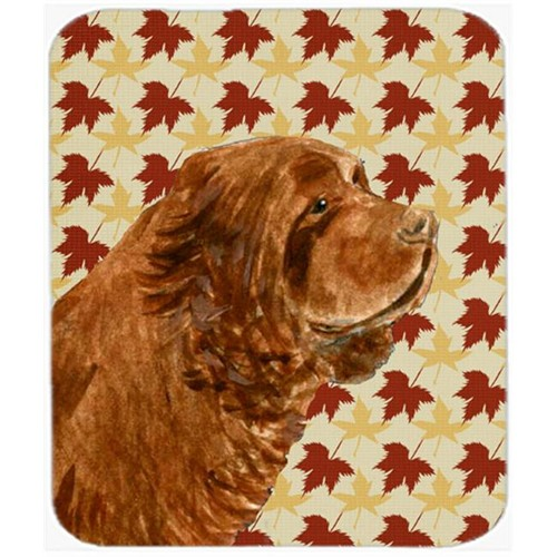 Carolines Treasures SS4346MP Sussex Spaniel Fall Leaves Portrait Mouse Pad Hot Pad Or Trivet