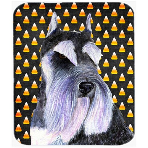 Carolines Treasures SS4270MP Schnauzer Candy Corn Halloween Portrait Mouse Pad Hot Pad Or Trivet