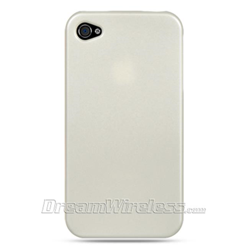 Dreamwireless Fitted Hard Shell Case for iPhone 4S; iPhone 4 - White