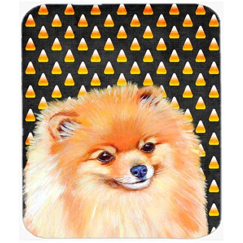 Carolines Treasures LH9045MP Pomeranian Candy Corn Halloween Portrait Mouse Pad Hot Pad or Trivet