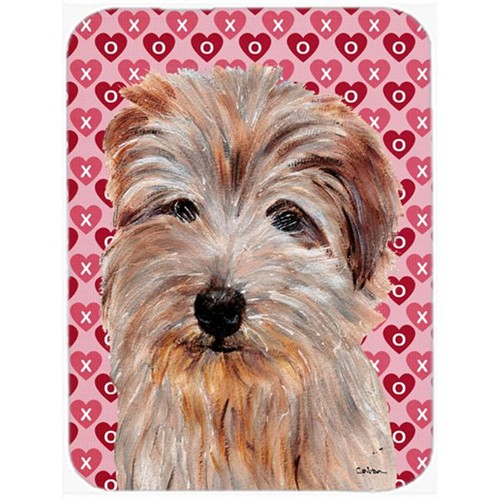 Carolines Treasures SC9712MP Norfolk Terrier Hearts And Love Mouse Pad Hot Pad Or Trivet 7.75 x 9.25 In.