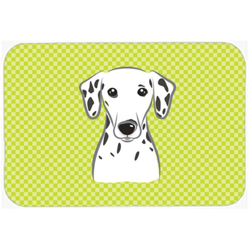 Carolines Treasures BB1272MP Checkerboard Lime Green Dalmatian Mouse Pad Hot Pad Or Trivet 7.75 x 9.25 In.