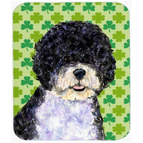 Carolines Treasures SS4421MP Portuguese Water Dog St. Patricks Day Shamrock Mouse Pad Hot Pad Or Trivet