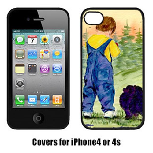 Carolines Treasures SS8544IP4 Little Boy With His Pomeranian Iphone4 Cover