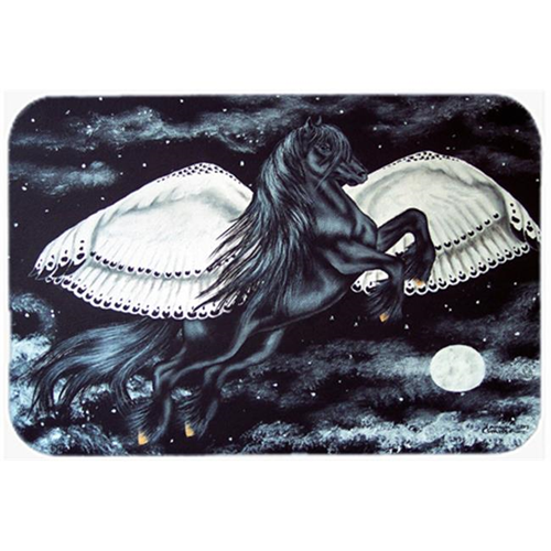 Carolines Treasures AMB1222MP Black Flying Horse Mouse Pad Hot Pad or Trivet
