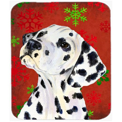 Carolines Treasures SS4699MP Dalmatian Red and Green Snowflakes Christmas Mouse Pad Hot Pad or Trivet