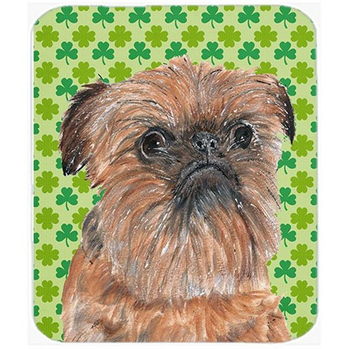 Carolines Treasures SC9572MP 7.75 x 9.25 in. Brussels Griffon St Patricks Irish Mouse Pad Hot Pad or Trivet