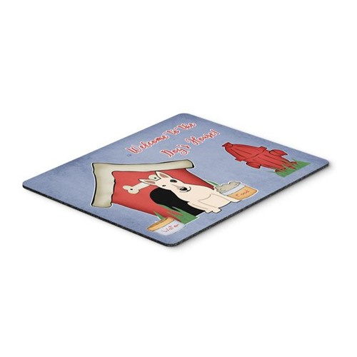 Carolines Treasures BB2892MP Dog House Collection Bull Terrier White Mouse Pad Hot Pad or Trivet