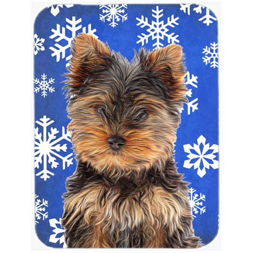 Carolines Treasures KJ1181MP Winter Snowflakes Holiday Yorkie Puppy & Yorkshire Terrier Mouse Pad Hot Pad or Trivet