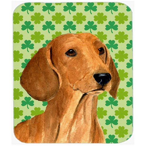 Carolines Treasures SS4418MP Dachshund St. Patricks Day Shamrock Portrait Mouse Pad Hot Pad Or Trivet