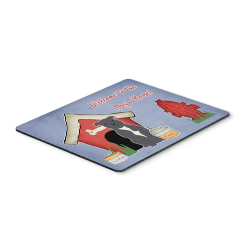 Carolines Treasures BB2800MP Dog House Collection Staffordshire Bull Terrier Blue Mouse Pad Hot Pad or Trivet