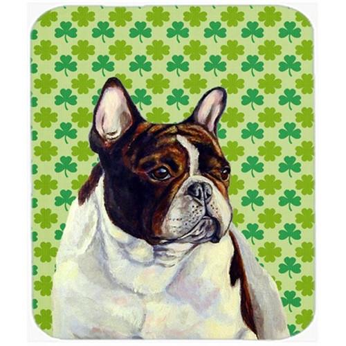 Carolines Treasures LH9202MP French Bulldog St. Patricks Day Shamrock Portrait Mouse Pad Hot Pad or Trivet