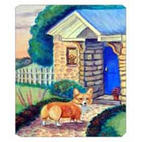 Carolines Treasures 7169MP 8 x 9.5 in. Pembroke Corgi at the Cottage Mouse Pad Hot Pad Or Trivet