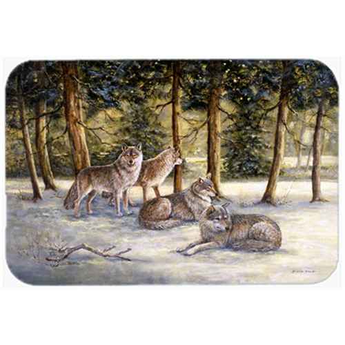 Carolines Treasures BDBA0371MP Wolves by Daphne Baxter Mouse Pad Hot Pad or Trivet