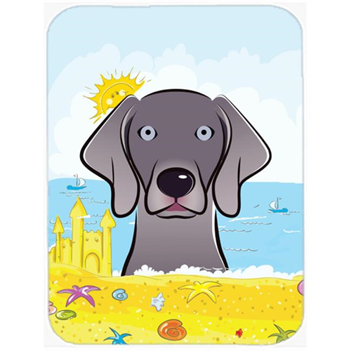 Carolines Treasures BB2099MP Weimaraner Summer Beach Mouse Pad Hot Pad or Trivet