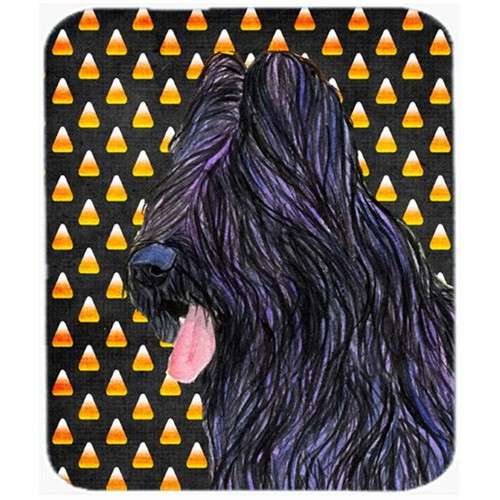 Carolines Treasures SS4283MP Briard Candy Corn Halloween Portrait Mouse Pad Hot Pad Or Trivet