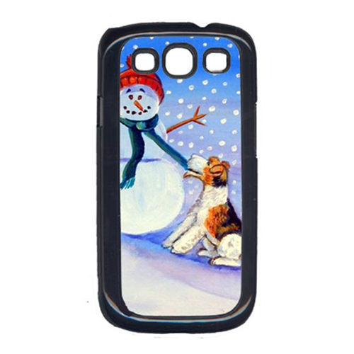 Carolines Treasures 7156GALAXYSIII Snowman With Fox Terrier Galaxy S111 Cell Phone Cover