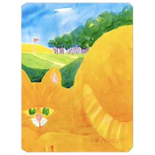 Carolines Treasures 6021MP 9.5 x 8 in. Orange Tabby Cat on the Green Golfer Mouse Pad Hot Pad Or Trivet