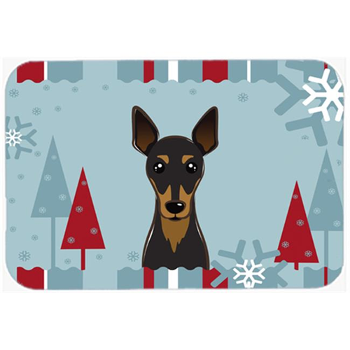 Carolines Treasures BB1736MP Winter Holiday Min Pin Mouse Pad Hot Pad & Trivet