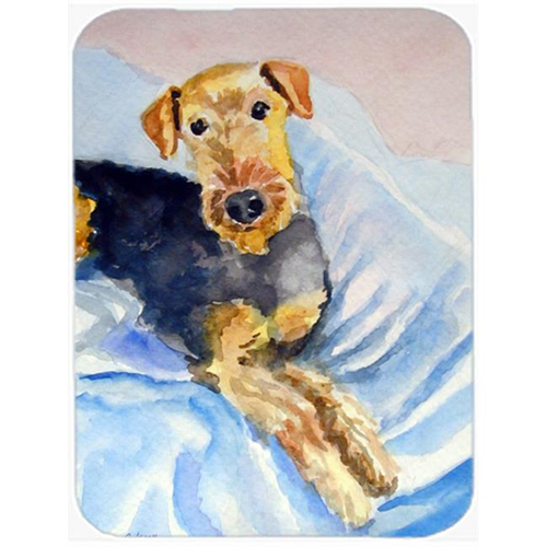 Carolines Treasures 7335MP Cozy Airedale Terrier Mouse Pad Hot Pad & Trivet
