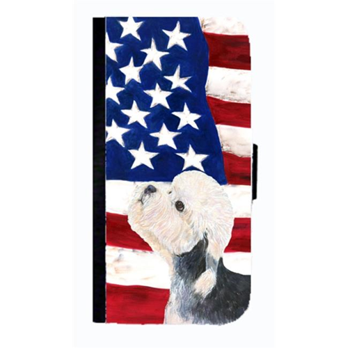 Carolines Treasures SS4030NBGALAXYS4 USA American Flag With Dandie Dinmont Terrier Cell Phone Case Cover For Galaxy 4S