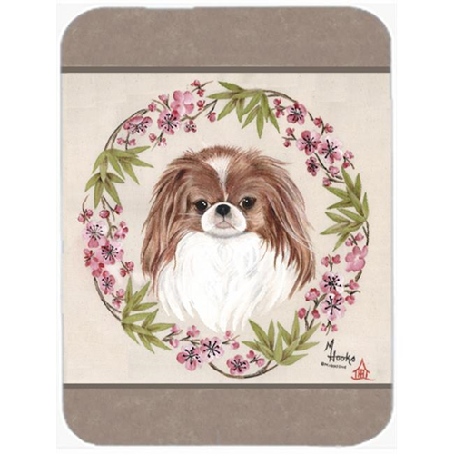 Carolines Treasures MH1009MP Japanese Chin Wreath Of Flowers Mouse Pad Hot Pad & Trivet
