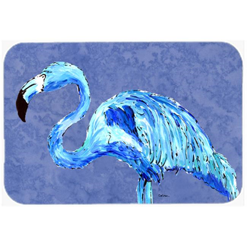 Carolines Treasures 8873MP 9.5 x 8 in. Flamingo On Slate Blue Mouse Pad Hot Pad or Trivet