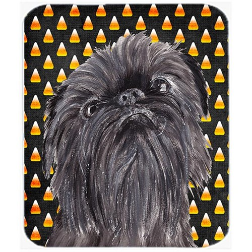 Carolines Treasures SC9531MP 7.75 x 9.25 In. Brussels Griffon Halloween Candy Corn Mouse Pad Hot Pad or Trivet