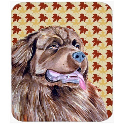 Carolines Treasures LH9084MP Newfoundland Fall Leaves Portrait Mouse Pad Hot Pad Or Trivet