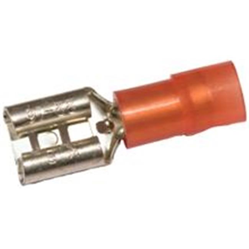 Morris Products 11912 Nylon Insulated Double Crimp Female Disconnects - 22-16 Wire.03 2 X.250 Tab Pack Of 100
