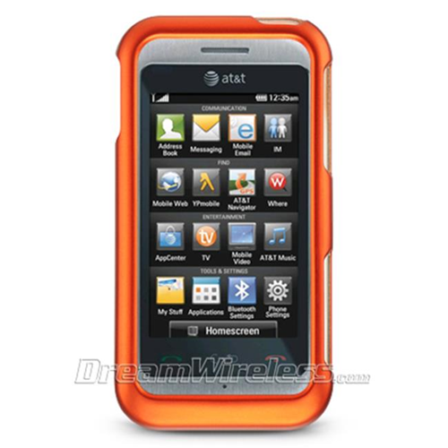 DreamWireless CRLGGT950OR LG GT950 & Arena Crystal Rubber Case Orange