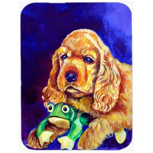 Carolines Treasures 7342MP Cocker Spaniel With Frog Mouse Pad Hot Pad & Trivet