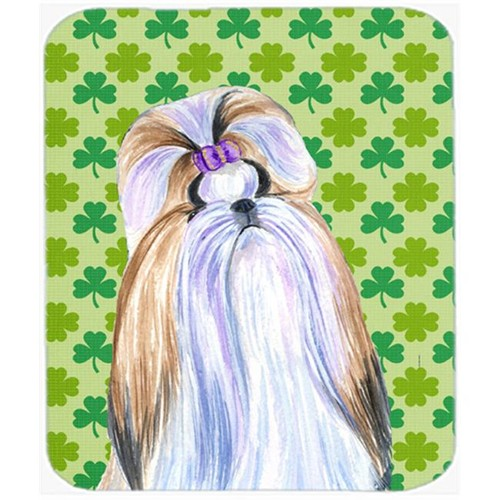 Carolines Treasures SS4396MP Shih Tzu St. Patricks Day Shamrock Portrait Mouse Pad Hot Pad Or Trivet