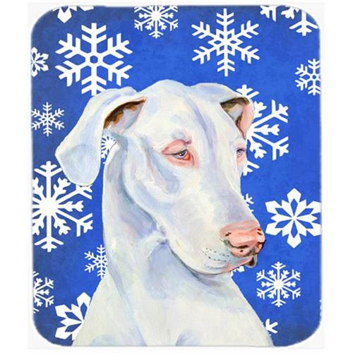 Carolines Treasures LH9266MP Great Dane Winter Snowflakes Holiday Mouse Pad Hot Pad Or Trivet