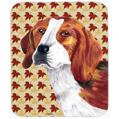 Carolines Treasures SC9209MP Beagle Fall Leaves Portrait Mouse Pad Hot Pad or Trivet