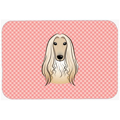 Carolines Treasures BB1244MP Checkerboard Pink Afghan Hound Mouse Pad Hot Pad Or Trivet 7.75 x 9.25 In.