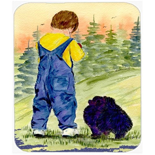 Carolines Treasures SS8544MP Little Boy With His Pomeranian Mouse Pad Hot Pad or Trivet