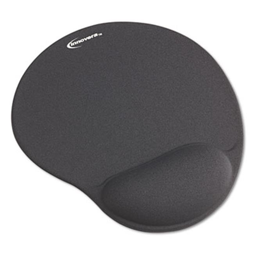 Innovera 50449 Mouse Pad with Gel Wrist Pad Nonskid Base 10.38 x 8.88 Gray