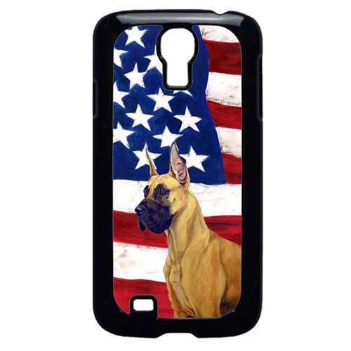 Carolines Treasures LH9025GALAXYS4 USA American Flag with Great Dane Cell Phone Cover GALAXY S4