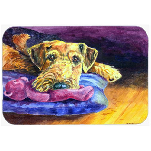 Carolines Treasures 7345MP Airedale Terrier Teddy Bear Mouse Pad Hot Pad & Trivet