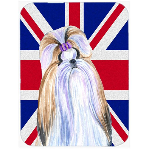 Carolines Treasures SS4907MP 7.75 x 9.25 In. Shih Tzu With English Union Jack British Flag Mouse Pad Hot Pad Or Trivet