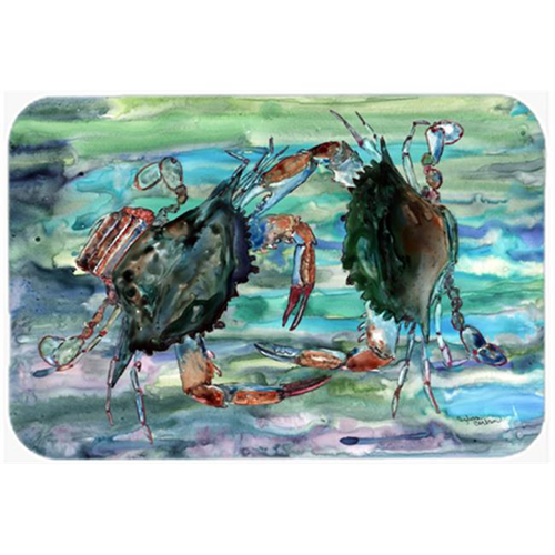 Carolines Treasures 8954MP Watery Teal And Purple Crabs Mouse Pad Hot Pad & Trivet