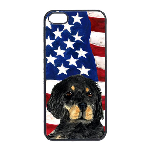 Carolines Treasures SS4042IP4 USA American Flag With Gordon Setter Iphone 4 Cover