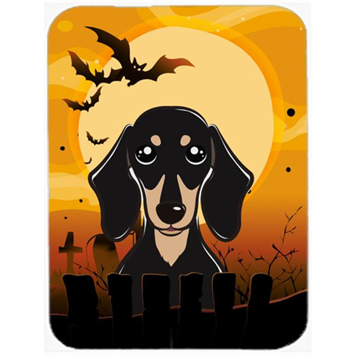 Carolines Treasures BB1773MP Halloween Smooth Black And Tan Dachshund Mouse Pad Hot Pad & Trivet