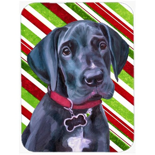 Carolines Treasures LH9593MP Black Great Dane Puppy Candy Cane Holiday Christmas Mouse Pad Hot Pad & Trivet