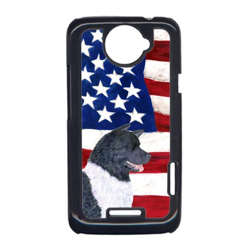 Carolines Treasures SS4005HTCONE USA American Flag With Akita HTC One X Cell Phone Cover