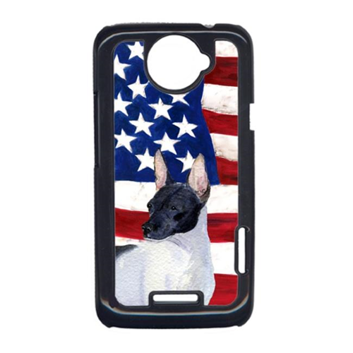 Carolines Treasures SS4054HTCONE USA American Flag With Rat Terrier HTC One X Cell Phone Cover