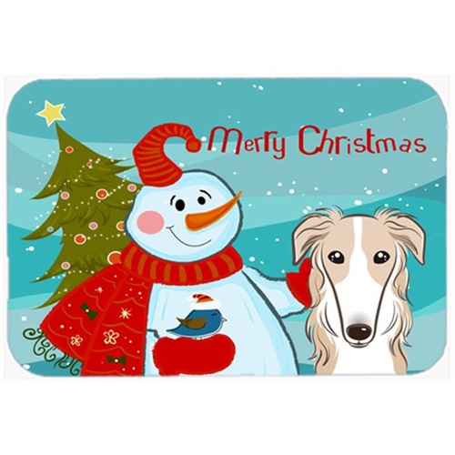 Carolines Treasures BB1848MP Snowman With Borzoi Mouse Pad Hot Pad & Trivet